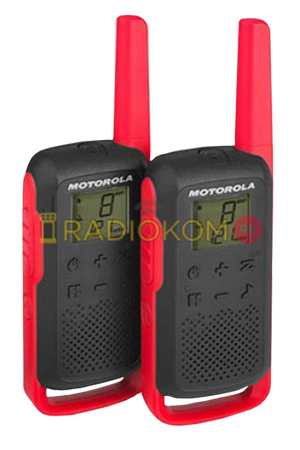 Рация Motorola Talkabout T62 RED (в комплекте 2 радиостанции)
